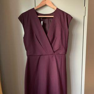J crew V neck dress in super 120s wool